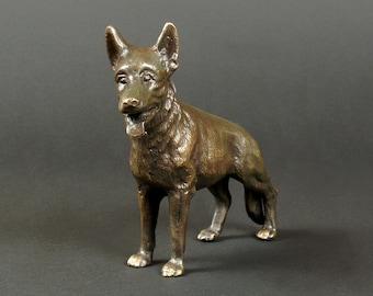 Dog Lover Gift, Metal Dog Figurine, Metal Dog, Brass Dog, Office Decor, Dog Decor, Dog Design, Dog Statue