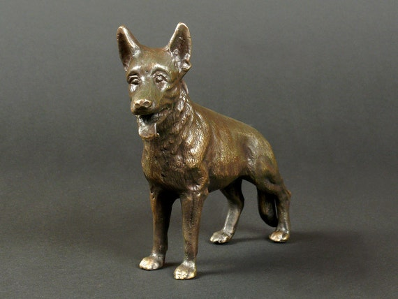 Dog Lover Gift, Metal Dog Figurine, Metal Dog, Brass Dog, Office Decor, Dog Decor, Dog Design, Dog Statue