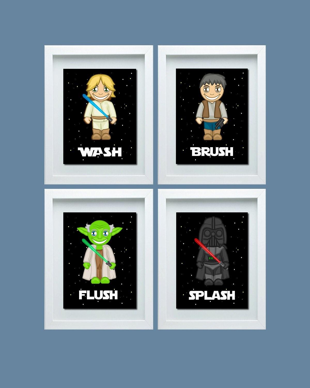Star wars inspired bathroom decor star wars inspired wash for Star wars bathroom ideas