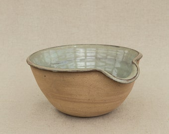 Toasted Stoneware Mixing Bowl in Sage