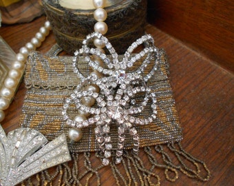 Fabulous 1950's Sparkly Rhinestone Shoe Clips