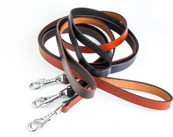Handmade leather leash  20mm (US 0.80″) wide leather