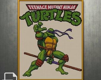 Teenage Mutant Ninja Turtles Cross Stitch Pattern INSTANT DOWNLOAD