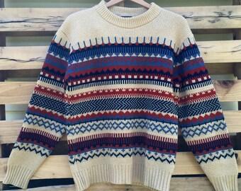 Vintage 70s Fair Isle Ski Lodge Sweater by Fargo