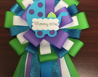 Monster inc inspire baby shower corsage