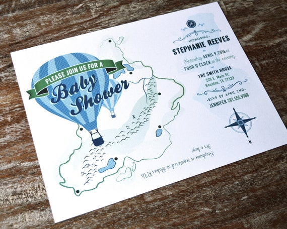 travel themed baby shower invitations set of 30 with envelopes