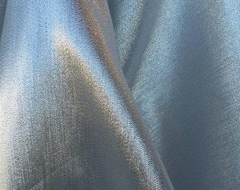 60 inches wide silk silver lamé