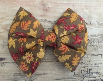 FALL brown floral headband or hair clip