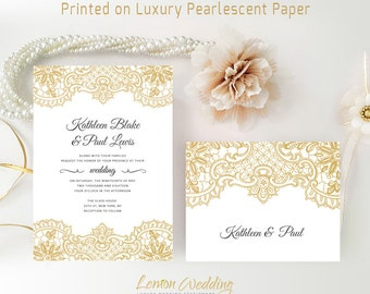 cheap wedding invitations with rsvp postcards gold wedding invitations packs personalised wedding invites - Cheap Wedding Invitations Packs