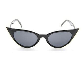 """50s """"Bettie"""" sunglasses shades - Pin-up/VLV/Rockabilly/Psychobilly- Black"""
