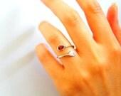 Drops Symbol Birthstone Ring - Gift Drops Birthstone Ring - Personalized Birthstone Ring - Drops Stone Ring - Gift For Her Birthstone Ring