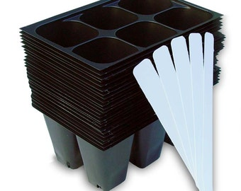 Seed Starter Trays, 144 Cells: (24 Trays) Plus 5 Plant Labels, Seed Starting, Cloning