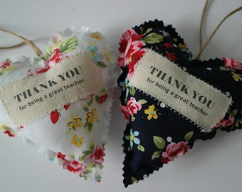 Thank you for being a great teacher fabric heart gift