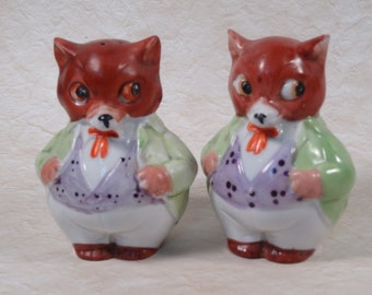 SALE!!! German Fox Salt and Pepper Set