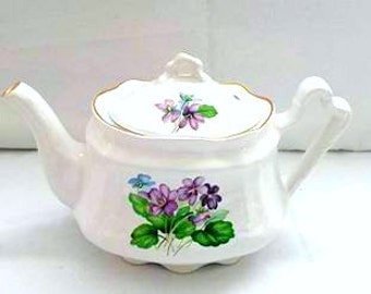 Vintage Arthur Wood & Son Teapot,6716, Staffordshire, England, Purple Floral Teapot,Tea Pot,Shabby,Cottage Chic,Wedding,Shower,Wood and Sons