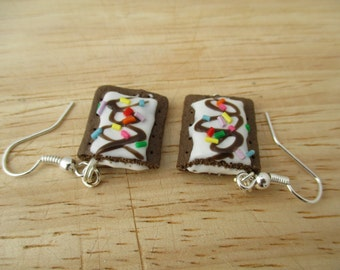 Sundae Pop Tart Earrings, Handmade Polymer Clay Kawaii