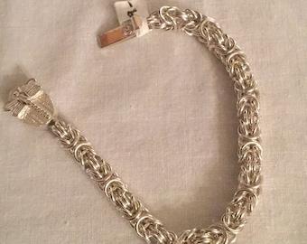 Sterling Silver .925 Byzantine Bracelet