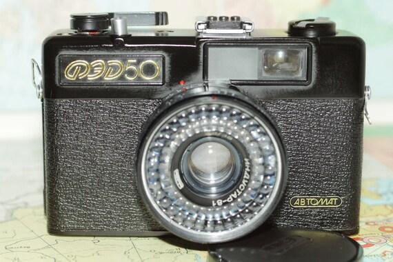 FED-50 ABTOMAT, FED-50 Avtomat Soviet automatic miniature camera Industar 81 И
