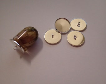 18mm bead caps for resin jewellery silver colour