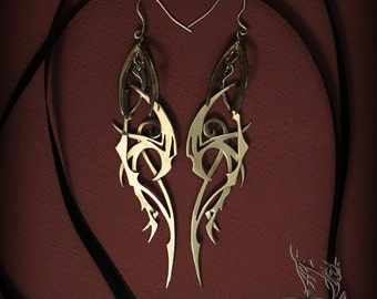 """Earrings """"Aspects of the storm"""" - jewelry, harpies, design"""