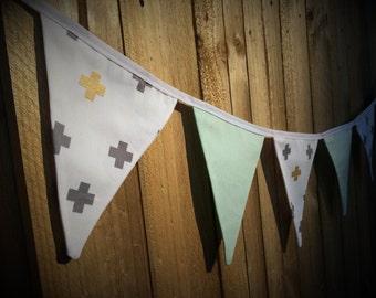 Bunting Flags - Cross & Mint - F1016