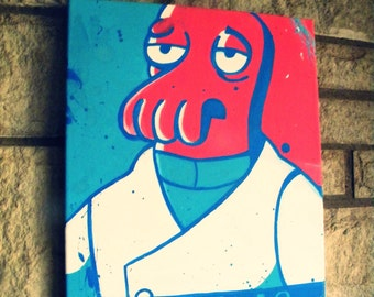 Handmade Comedy Central Futurama Zoidberg Canvas