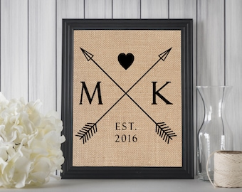 First Year Anniversary Gift // Wedding Gifts for Couple // Wedding Gifts Personalized // Boho Wedding Decor // Boho Wedding Sign