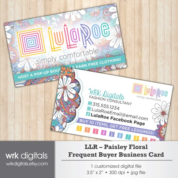 Lularoe business card frequent buyer card lularoe by for Lularoe business card ideas