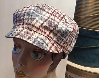 20% OFF SALE Vintage Tweed Wool Newsboy Hunting/Driving Cap Hat