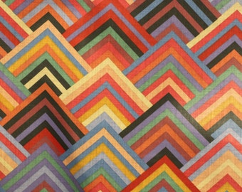FABRIC African Prints Geometric Print,  By T.M.C. For P Kaufmann Inc, For Drapery, Upholstery, Betting, Dress, Decor, Pillows,