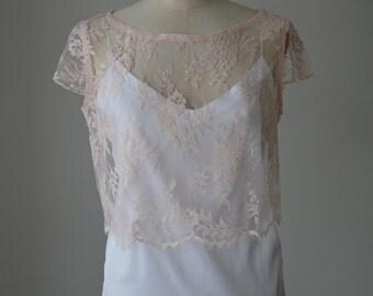 Top cocktail, shirt lace wedding pink