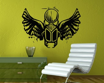 Winged Scarab Beetle Etsy