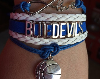 Duke Blue Devils bracelet - all sports charms available