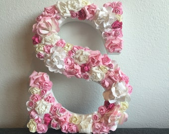 Floral flowers initials