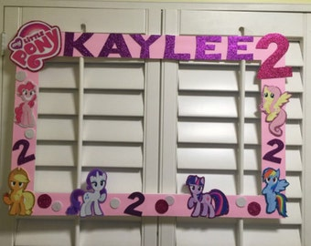 My little pony photo booth frame