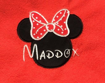 Personalized Minnie Mouse Baby Bib