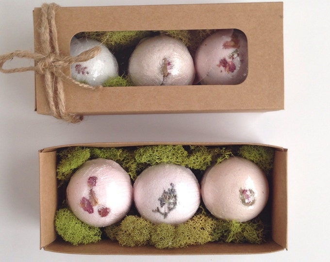 Bath Bomb Gift Box, set of 3 different scents