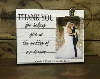 Wedding Officiant Gift, Wedding Gift, Thank You For Helping Give Us The Wedding Of Our Dreams, Thank You Gift