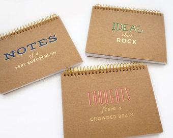 Kraft Notebooks • Journal Notebook • Travel Notebook