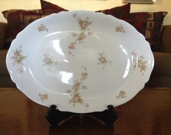 "Vienna Austrian China Shabby Chic 16"" Oval Serving Platter VNN49 Pattern"