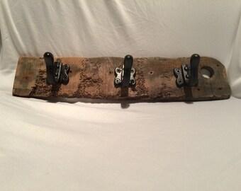 Rustic driftwood coat rail/kitchen utensil holder (item 176)