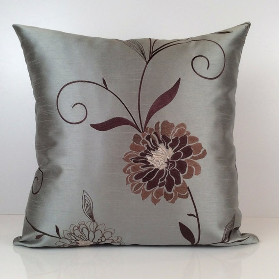 gray till tan and brown pillow throw pillow cover. Black Bedroom Furniture Sets. Home Design Ideas