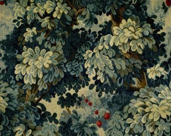 SCALAMANDRE MARLY Cut & Uncut Velvet Forest Linen Fabric 10 Yards Blues