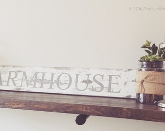 Farmhouse|Wood Sign|Gray
