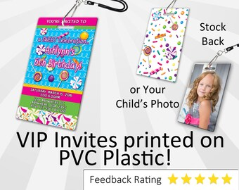 Candy Invitation, PLASTIC!!!, for Candy birthday party, Invitations  Candy Birthday Invitations VIP Pass Candy Candyland Candy Land