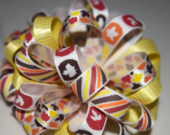 Loopy Bow, Puffy Bow, Reduced Price, Toddler, Tween,Fall,Thanksgiving