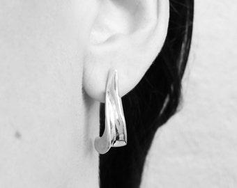 Sterling silver tip earrings