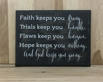 Faith wood sign scripture, Christian wall art, religious gift, wood sign quote, confirmation gift, custom wooden sign, inspirational sign