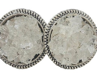 Clear Quartz Stud Earrings, Gemstone earrings, April Birthstone Earrings, Silver earrings, Earrings, Bridal Jewelry, Sparkly earrings