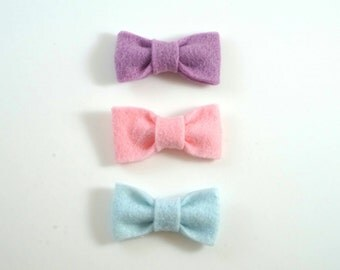 Pink, Purple, Blue Baby Hair Clip Barrette Pack. Baby Barrettes. Toddler Barrettes. Toddler hair bow. Toddler hair clip. Baby hair clip.